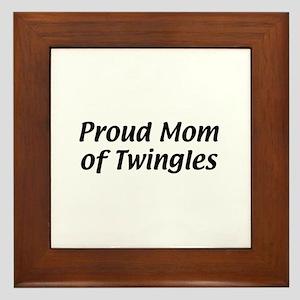 Proud Mom of Twingles Framed Tile