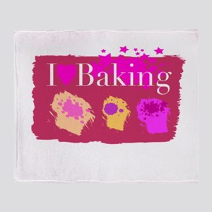 I Heart Baking Throw Blanket