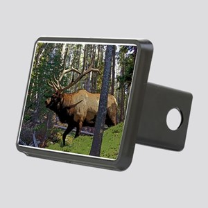 Bull Elk 4 Rectangular Hitch Cover