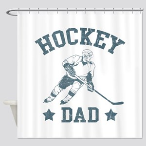 Hockey Dad Shower Curtain