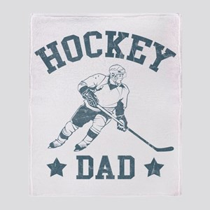 Hockey Dad Throw Blanket