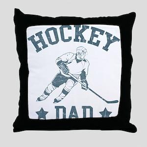Hockey Dad Throw Pillow