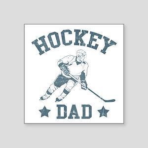 "Hockey Dad Square Sticker 3"" x 3"""