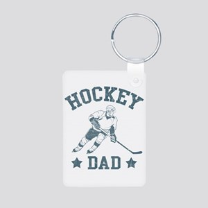 Hockey Dad Aluminum Photo Keychain