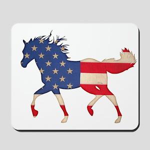American Flag Horse Mousepad
