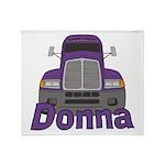 Trucker Donna Throw Blanket