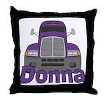 Trucker Donna Throw Pillow