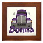 Trucker Donna Framed Tile