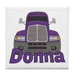 Trucker Donna Tile Coaster