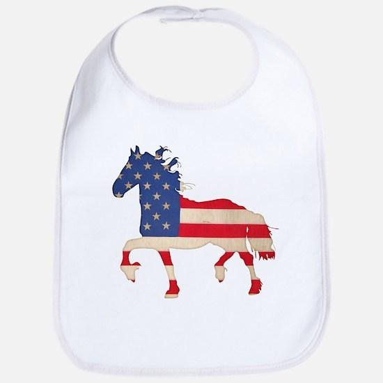 American Flag Friesian Horse Bib