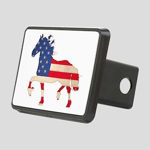 American Flag Friesian Horse Rectangular Hitch Cov