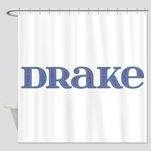 Drake Blue Glass Shower Curtain