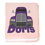 Trucker Doris baby blanket