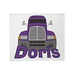 Trucker Doris Throw Blanket
