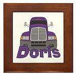 Trucker Doris Framed Tile