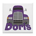 Trucker Doris Tile Coaster