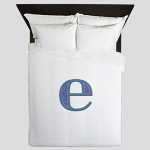 E Blue Glass Queen Duvet