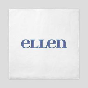 Ellen Blue Glass Queen Duvet