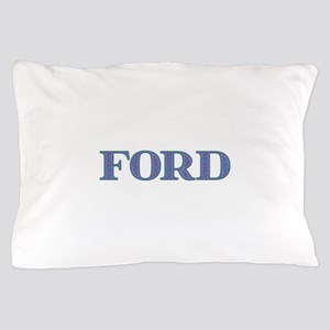 Ford Blue Glass Pillow Case