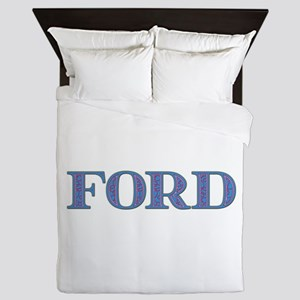 Ford Blue Glass Queen Duvet