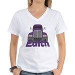 Trucker Edith Women's V-Neck T-Shirt