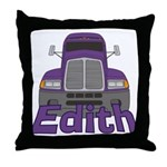 Trucker Edith Throw Pillow