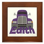 Trucker Edith Framed Tile