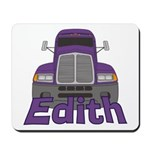 Trucker Edith Mousepad