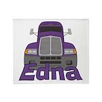 Trucker Edna Throw Blanket