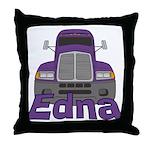 Trucker Edna Throw Pillow