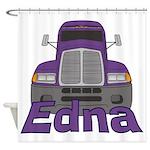 Trucker Edna Shower Curtain