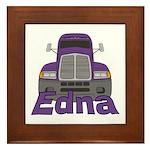 Trucker Edna Framed Tile