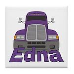 Trucker Edna Tile Coaster