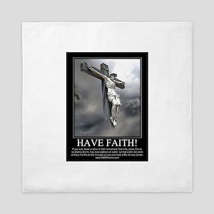 Have Faith Queen Duvet