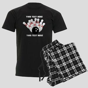 Personalized Bowling Team Orig Men's Dark Pajamas