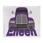 Trucker Eileen Throw Blanket