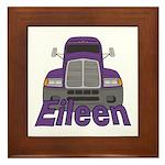 Trucker Eileen Framed Tile
