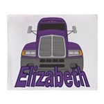 Trucker Elizabeth Throw Blanket