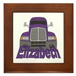 Trucker Elizabeth Framed Tile