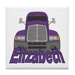 Trucker Elizabeth Tile Coaster
