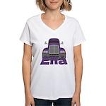 Trucker Ella Women's V-Neck T-Shirt
