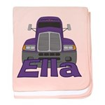 Trucker Ella baby blanket