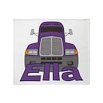 Trucker Ella Throw Blanket