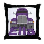Trucker Ella Throw Pillow