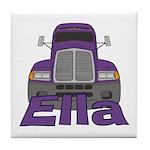 Trucker Ella Tile Coaster