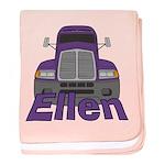 Trucker Ellen baby blanket