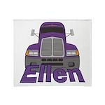 Trucker Ellen Throw Blanket