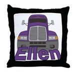 Trucker Ellen Throw Pillow