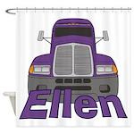 Trucker Ellen Shower Curtain
