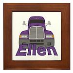 Trucker Ellen Framed Tile